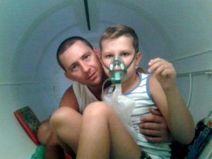 Arek z tatą Adamem